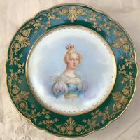ANTIQUE SEVRES PORCELAIN PLATE DISH HAND PAINTED SIGNED