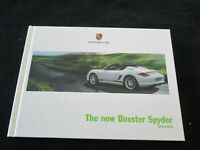 2011 2012 Porsche Boxster SPYDER Catalog 987 Hardcover US Sales Brochure Book