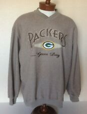VTG Lee Sport Green Bay Packers Embroidered Sweatshirt Vented Cotton Blend XL