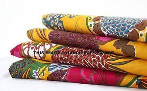 10 Yard Indian Fabric Cotton Cloth Dress Material Running Apparel Fabric Crafts
