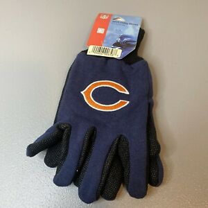 WindCraft NFL Chicago Bears Adult Sport Utility Gloves One Size Fits Most