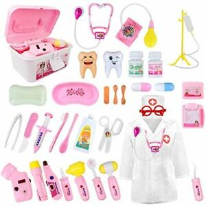 LOYO Medical Kit for Kids - 35 Pieces Doctor Pretend Play Equipment, Dentist Kit