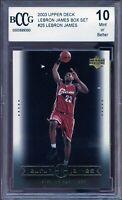 2003 Upper Deck LeBron James Box Set #25 LeBron James Rookie BGS BCCG 10 Mint
