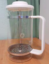 Bodum French Press 1 liter approx Coffee Maker - White plastic swiss made.
