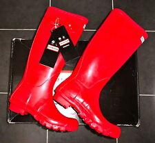 Hunter Original Tall Red Wellies Wellington Rain Rubber Boots