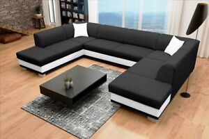 Huge Modern ARCO U-shaped sofa bed with sleeping function storage many colours