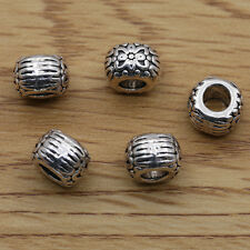 Hot Selling 50/100/200pcs Tibet Silver Carving Spacer Loose Beads Charm 10x10mm