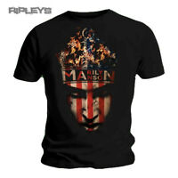 Official T Shirt MARILYN MANSON Burning CROWN Flag All Sizes