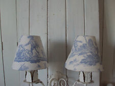 LAURA ASHLEY TOILE DE JOUY **CANDLE LAMPSHADES ** FRENCH COUNTRY STYLE CHIC