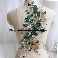 1 Pce Vintage Leaf Embroidery Lace Applique Motif Floral Patches Appliques