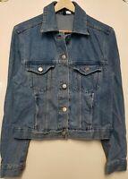 Women`s New H&M Denim Jacket UK Size 4-6-8-10-12-14-16-18