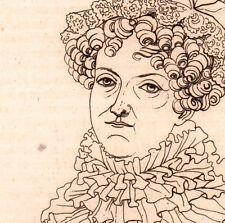 Portrait XIXe Louise Marie Adélaïde Eugénie d'Orléans Louis-Philippe 1821