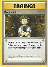 POKEMON EVOLUTIONS CARD: BROCK'S GRIT - 74/108