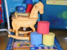 Barbie Little Kelly Krissy Baby Rocking Horse toy blocks fits Loving Family Doll