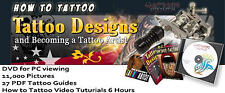 How to Tattoo Designs DVD -PC 11000+ Pictures, VIDEO & 27 PDF eBooks iPad Kindle