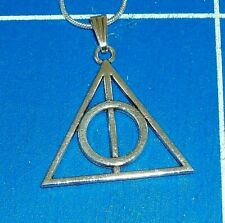 """Deathly Hallows Pendant & 18"""" silver plate necklace HARRY POTTER NECKLACE '234'"""