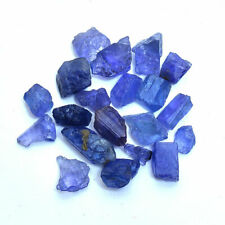 65 Cts/20 Pcs Rare Natural Tanzanite Rough Finest Blue Gemstones Lot- 7mm-16mm