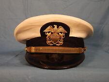 Original Late 50's/Vietnam War US Navy White Top Officer Visor Cap