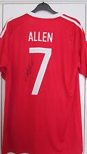 """Signé """"Joe Allen-Pays de Galles"""" EURO 2016 Home Shirt (preuve & COA)"""