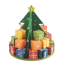 Wooden Christmas Tree Advent Calendar -Holiday Countdown Tree, 24 Numbered Boxes