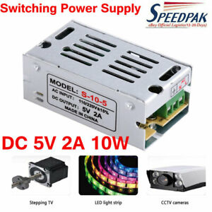 AC 110V 220V DC 5V 2A 10W Regulated Switching Power Supply Adapter Transformer