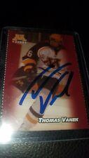Rare Thomas Vanek True Rookie Autograph Card On A Minnesota Gopher Card