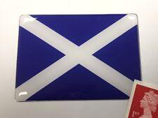 Scottish Saltire Flag Sticker Super Shiny Domed Finish 75mm Scotland