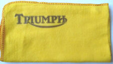 TRIUMPH MOTORCYCLE: TOOL BOX HI-QUALITY CLEANING YELLOW DUSTER CLOTH WITH LOGO