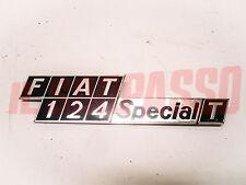 SCRITTA COFANO POSTERIORE FIAT 124 SPECIAL T TI ORIGINALE
