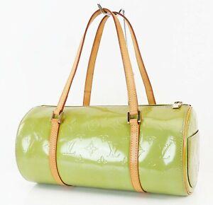 Authentic LOUIS VUITTON Bedford Baby Blue (Green) Vernis Hand Bag Purse #38699