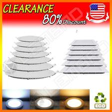 LED Recessed Ceiling Panel Down Lights Bulb Slim Lamp Fixture 6W 9W 12W 15W 18W