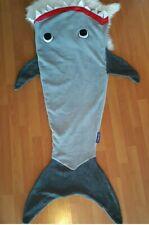 Blankie Tails kids Shark Blanket Machine Washable Minky Fabric Gray Soft