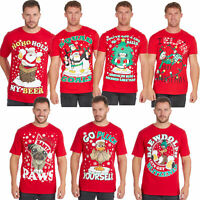 Mens Christmas T Shirts 100% Cotton Funny Rude Joke Xmas Gift Plus Size S-5XL