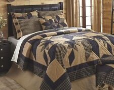 DAKOTA BLACK STAR ** King ** QUILT : COTTON WESTERN CABIN RUSTIC PATCH COUNTRY