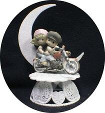 Motorcycle Harley Wedding Engagement Cake Topper Precious top Funny Moment