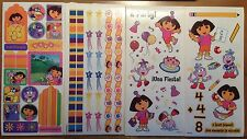 4 Large Sheets DORA the EXPLORER Boots Fiesta School Scrapbook Stickers