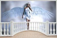 Huge 3D Balcony Fantasy Angel Wall Stickers Wallpaper Mural 703