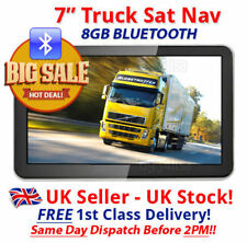 Bluetooth 2018 gps hgv truck sat nav 7 inch lorry/truck/car FREE Postage in UK