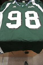 TULANE UNIVERSITY GAME USED FOOTBALL JERSEY GREEN  SIZE L #98