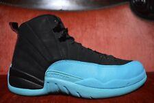 CLEAN Nike Air Jordan XII 12 Retro Black Gamma Blue 130690-027 Size 10.5 Black