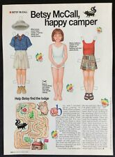 Vintage Betsy McCall Mag. Paper Doll, Betsy McCall a Happy Camper, July 1995