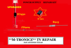 VIZIO E550i-B2 POWER BOARD DPS-167DP 056.04167.0001  REPAIR PARTS  KIT  DEAD TV
