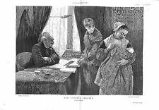 Bureau des Enfants Trouvés à Paris par Adolphe-François Pannemaker GRAVURE 1882