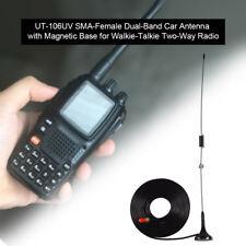 UT-106UV SMA-Female Dual-Band Car Antenna Magnetic for KENWOOD BaoFeng Radio LJ