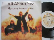 "All About Eve ‎– Flowers In Our Hair Label: Eden ‎– EVEN 4 UK 7"" Vinyl Single"