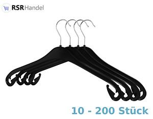 10-200 x Kleiderbügel  NA 47 cm Kunststoff Hemdenbügel Blusenbügel Schwarz