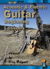 Instruction Guitar Acoustic & Electric Beginner Lesson Dvd Video