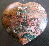 POPPIN MULTI RUNG ORBS OCEAN JASPER HEART SCULPTURE DISPLAY 00073