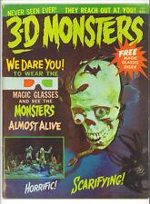 3-D Monsters 1964 rare like Famous Monsters Magazine horror film movie US Mag