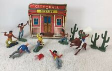 Timpo Knock Off Vintage Hong Kong Sheriff Box w Western Theme 10 pieces